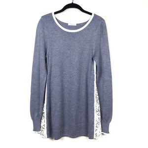 Katherine Barclay Montreal Lace Zip Detail Sweater